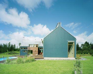 façade jardin - House Ulve par Oopera - Seinäjoki, Finlande