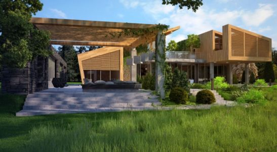 façade jardin - House in Forest par Bracia Burawscy Architekci s - Varsovie, Pologne