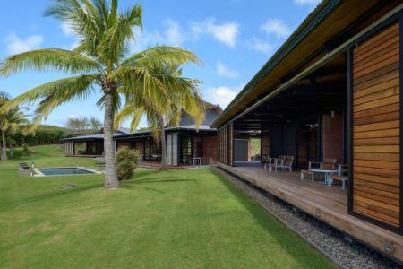 façade jardin - Kapalua-Home par Olson Kundig Kaprzycki Designs - Hawaï, USA