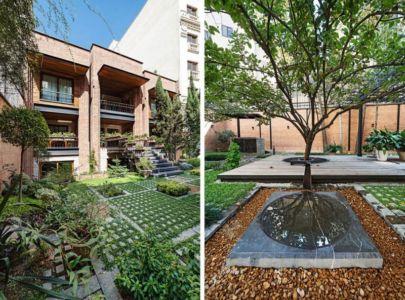 façade jardin - Kaveh-House par Pargar Architecture and Design Studio - Téhéran, Iran