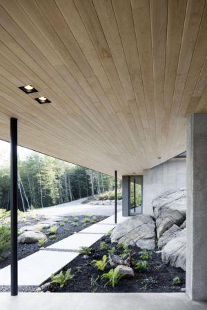 façade jardin - La-Heronniere par Alain Carle Architecte - Québec, Canada