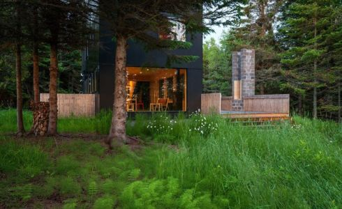 façade jardin - Lake-House par David Salmela -  Wisconsin, USA