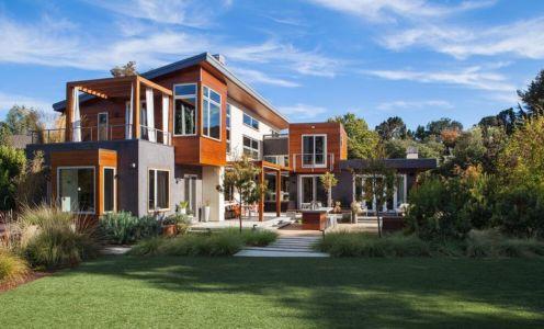 façade jardin - Los-Altos-House Dotter Solfjeld Architecture - Los Atlos, USA