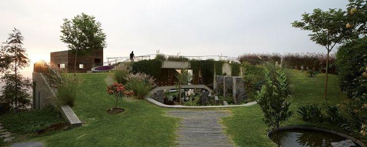 façade jardin - Pachamanca-House par 1-arquitectos - Lima, Pérou