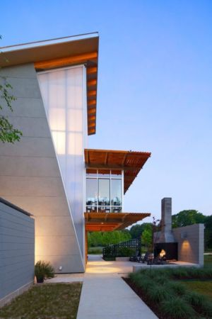 façade jardin - Pond-House par Holly-Smith-&-Architectes - Louisiane, USA