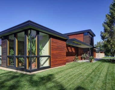 façade jardin - Rock River House par Bruns Architecture - Rockton, Usa