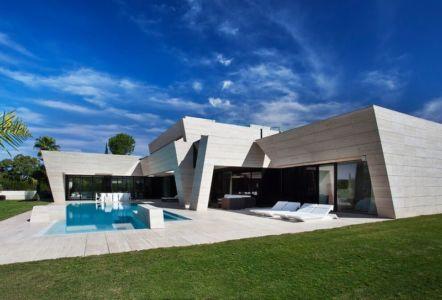 façade jardin - SV-House par A-Cero - Seville, Espagne