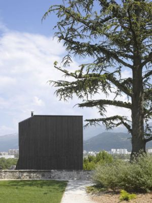 façade jardin - Saint-Ange-Residency par Studio Odile Decq - Seyssins, France