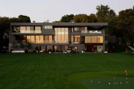façade jardin - Sands Point Residence par Narofsky Architecture - Long Island, Usa