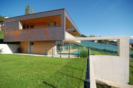façade jardin- Schaan Residence par K_M Architektur - Liechtenstein