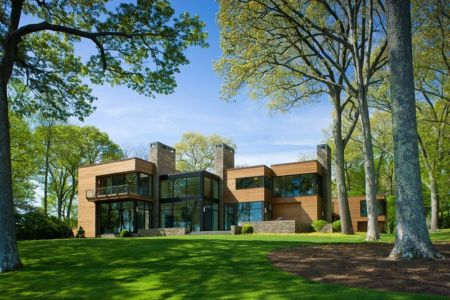façade jardin - Secluded contemporary home par Point One Architects - Essex, Usa