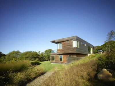 façade jardin - Vineyard-Farm-House par Charles Rose Architectes - Vineyard, USA