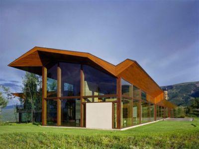 façade jardin - Wildcat Ridge residence par Voorsanger Architects - Aspen, Usa