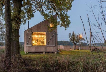 façade jardin - Wooden-House par ASGK design - Lodin, République Tchèque