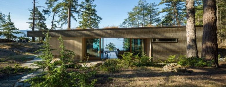 façade jardin - Woodsy-Retreat par Heliotrope Architects - Washington, USA