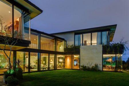 façade jardin de nuit - Garden house par VGZ Architecture - Mexico, Mexique