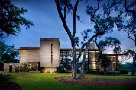façade jardin de nuit - SC Modern I par SBCH Architects - Bray's Island, Sheldon, Usa