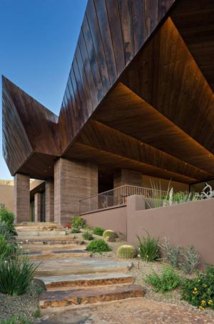 façade jardin - desert-residence par Shelby Wilson - Arizona, USA