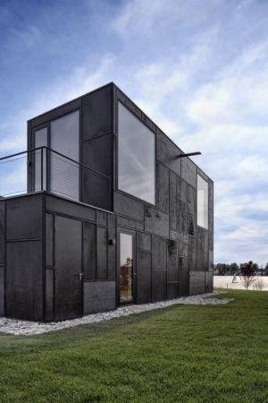 façade jardin & entrée - Lake-House par Maximilien Eisenkock Neufelder, Autriche