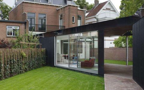 façade jardin & entrée - Villa-Juliana par Borren Staalenhoef Architects - Leeuwarden, Pays-Bas