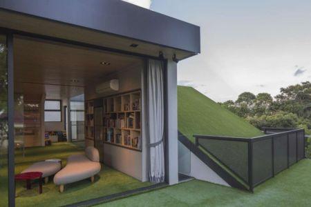 façade jardin & entrée salon - Trevose-House par Ad-Lab - Singapour