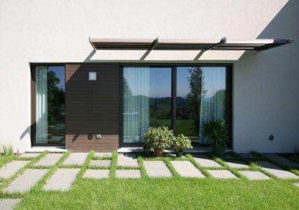 façade jardin entrée - semi-ipogea-house par Dario Scanavacca - Marostica, Italie