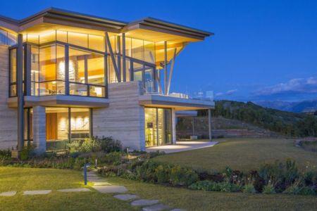 façade jardin & grande baie vitrée étage - home-Colorado par Bill Poss - Colorado, USA