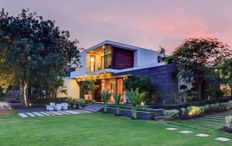 façade jardin - home-pool par DADA-&-Partners - New Delhi, Inde