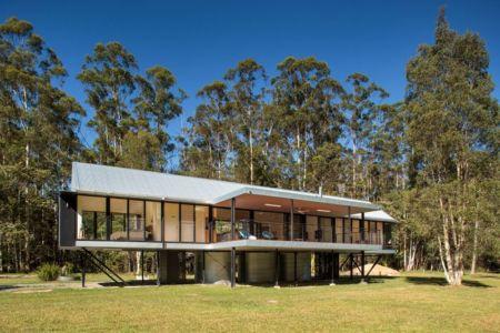 façade jardin - house-built-zone par Robinson Architects - Pomona, Australie