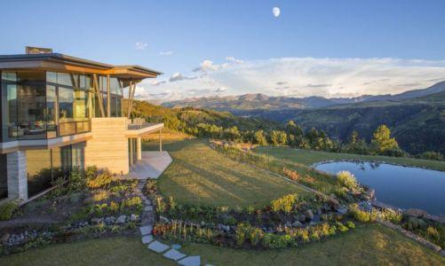 façade jardin & piscine - home-Colorado par Bill Poss - Colorado, USA