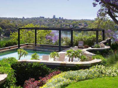 façade jardin & piscine - Bulwarra - maison kate Blanchett - Sydney, Australie