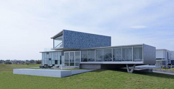façade jardin & salon terrasse design - Campanario-2 par Axel Duhart Arquitectos - Santiago-Querétaro, Mexique
