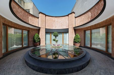 façade jardin & terrasse - Kaveh-House par Pargar Architecture and Design Studio - Téhéran, Iran
