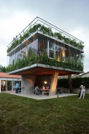 façade jardin & terrasse - Sun Path House par Studio Christian Wassmann - Miami, USA