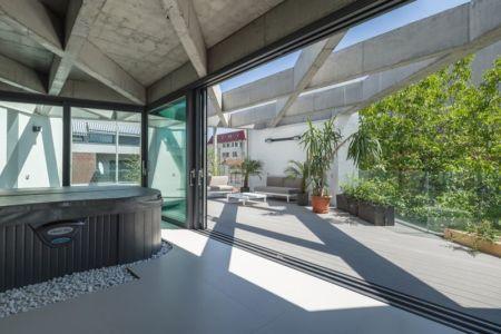 façade jardin & terrasse - Urban-Eco-House par Tecon Architects - Bucuresti Roumanie
