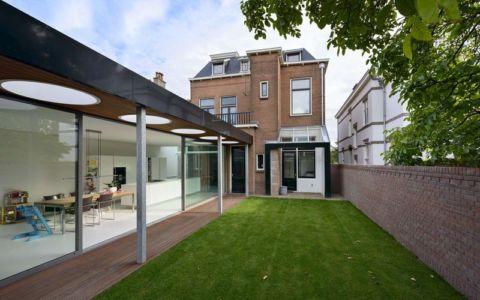 façade jardin & terrasse - Villa-Juliana par Borren Staalenhoef Architects - Leeuwarden, Pays-Bas
