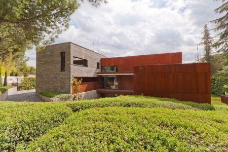 façade jardin - villa-madrid par Modern Homes - Madrid, Espagne