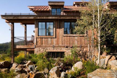 façade jardin & vue balcon - Camp 88 par Munn Architecture - Colorado, USA