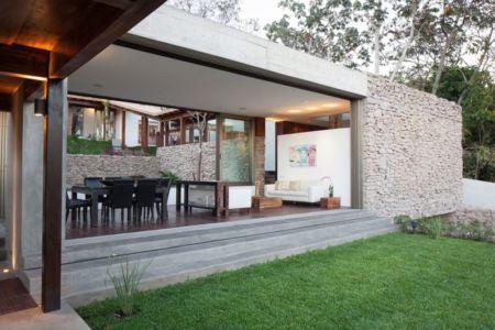 façade jardin & vue salon - Garden-House par Cincopatasalgato - El Salvador