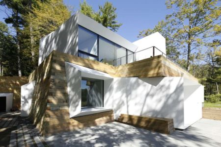 façade - lake house par Taylor and Miller Architecture and Design - Usa
