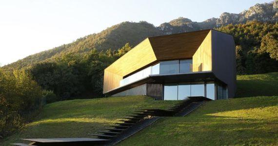 façade maison - Alps Villa par Camillo Botticini Architect - Brescia, Italie