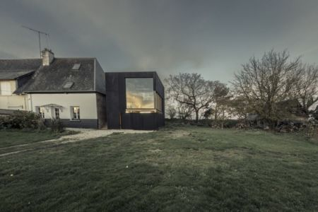 façade maison et extension - Cliffs Impasse par ZIEGLER Antonin architecte - Senneville-sur-Fécamp, France