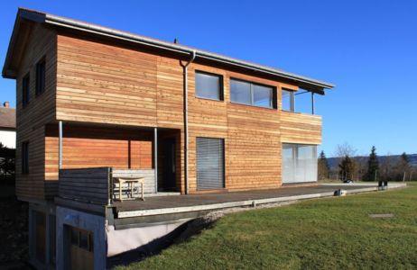 façade - maison ossature bois par Eric Viprey, Cambiums - France