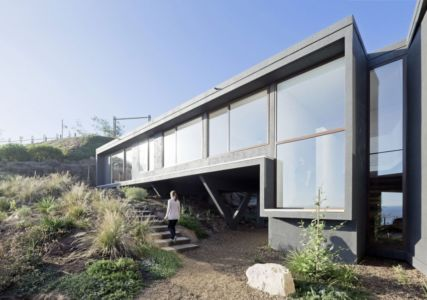 façade mer - Catch the Views House par LAND Arquitectos - Zapallar, Chili