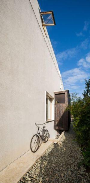 façade mur sud - LAMA-House par LAMA Arhitectura - Bucarest, Roumanie