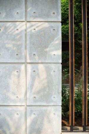 façade béton - d-s-house par DP+HS architects - jakarta, Indonesie