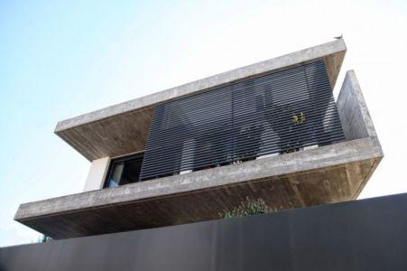 façade niveau supérieur - A&A-House par WoArchitects - Athènes, Grèce