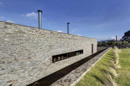 façade nord - Casa BS par  Elías Rizo Arquitectos - Tapalpa, Mexique