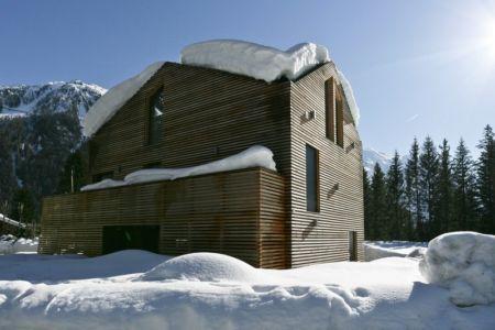 façade nord - Chalet Piolet par Chevallier Architectes - Chamonix, France