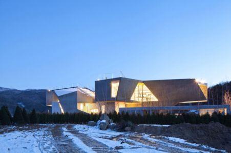 façade nord - Maison Rivendell par IDMM Architects - Corée du sud